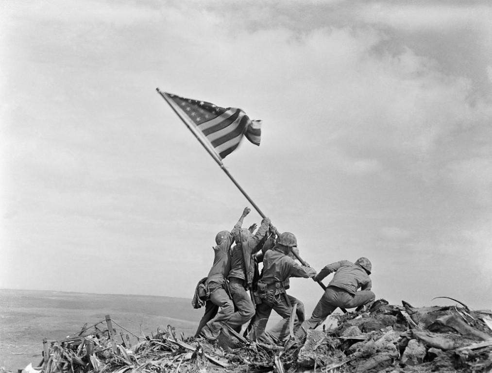 Joe Rosenthal's iconic World War II photograph was taken on this day