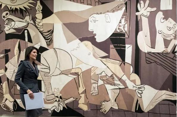 Anti-war icon leaves United Nations halls
