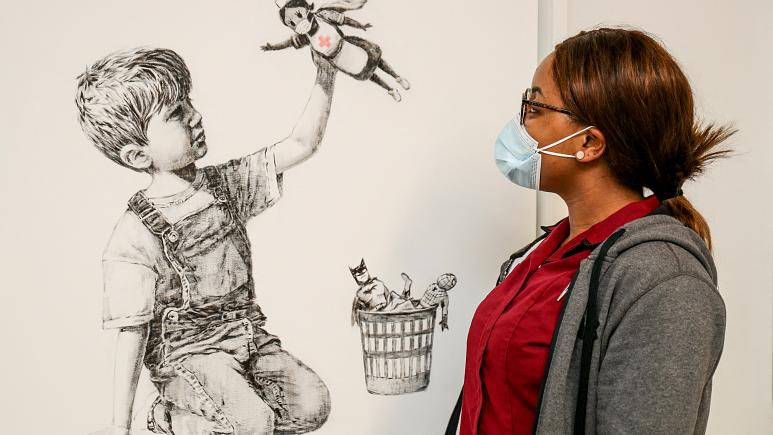 Banksy's 'Game Changer' raises record $23.2 mn for UK pandemic health workers