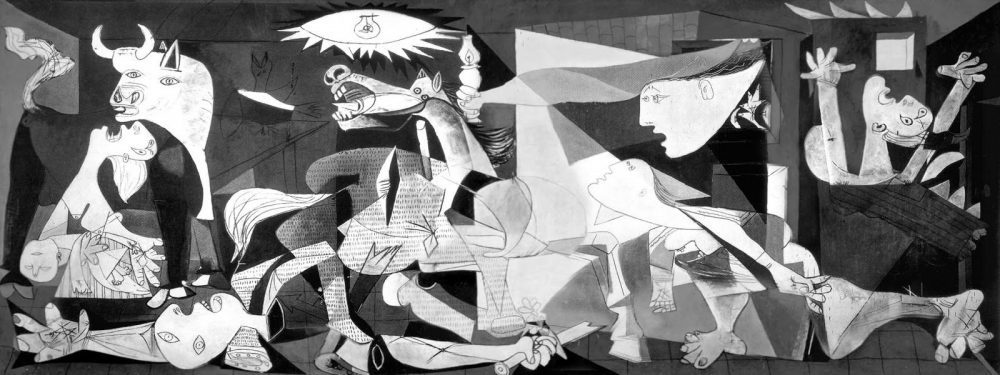 Guernica is gone. We can't keep staring at the blank panel