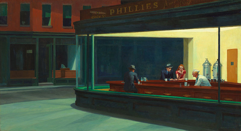 A master of scenes of quiet contemplation — Edward Hopper — was born today