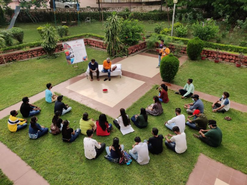 Young artists get inspired by Mandu in monsoon for Raza Foundation's art camp